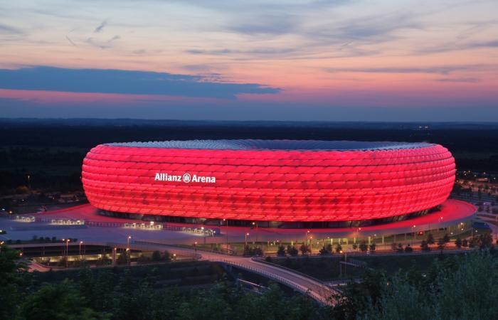 Allianz Arena<br>Flutlichtb&uuml;hnen
